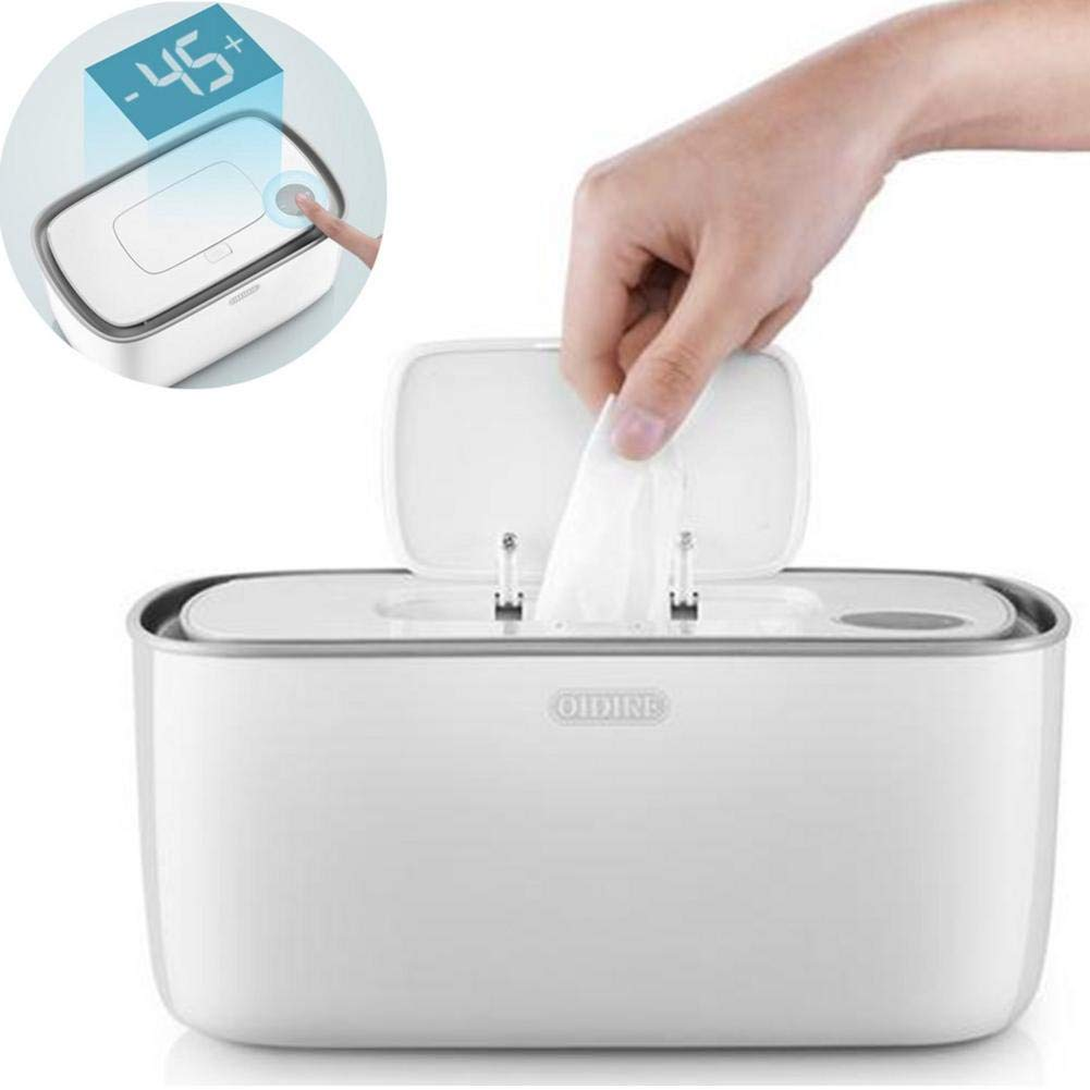 Wipe Warmer and Baby Wet Wipes Dispenser Holder, Baby Wipes Heater, Household Portable Wipes Heating Box Insulation Container, with Universal Conversion Plug by S WIDEN ELECTRIC
