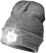 Etsfmoa Unisex LED Beanie Hat with Light, Gifts for dad,Gadgets Gift for Men Him Father USB Rechargeable Winte