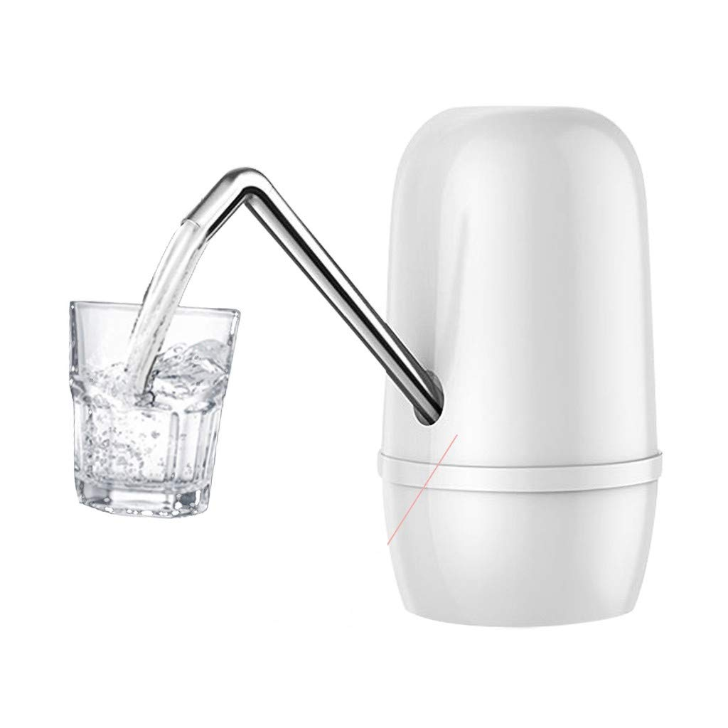 Ecosin Drinking Water Pump, Electric Water Dispenser Mineral Water Electric Suction Unit Automatic Water Pumping Device Assemble No drips or leakage (White)