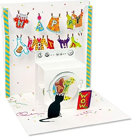 Amazon com : Pop Up Treasures Greeting Card - Washing