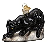 Old World Christmas Prowling Panther Glass Blown Ornament