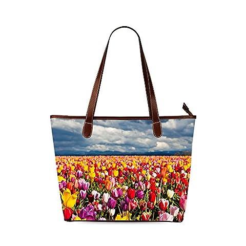 Tulip Custom Interest Print Tote Bag - Earthway Bag Seeder