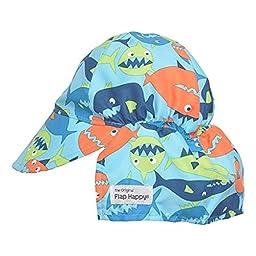 UPF 50+ Original Flap Hat (XX-Large, Fish Frenzy)