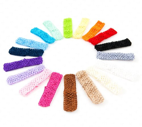 Ema Jane - 1,5 pouces Crochet Bandeaux (Paquet 18)