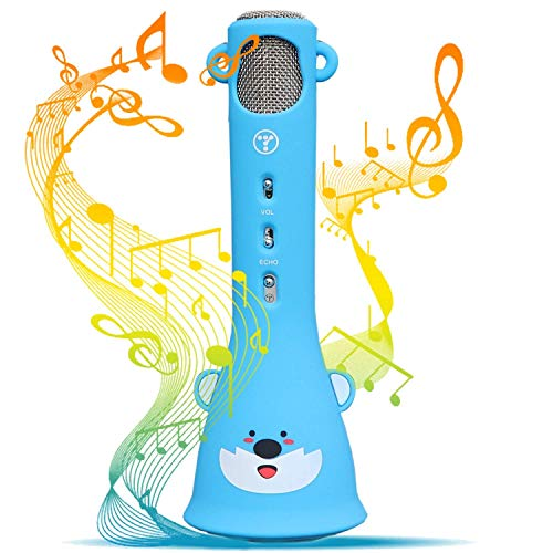TOSING Wireless Karaoke Microphone for Kids, 2019 Top Birthday Gifts for Girls Boys, Best Present Toys for Kids Girls 4 5 6 7 8 9 Years Old & 10 11 12 Yrs Teenager, Bluetooth Child Karaoke Machine (Best Present For 3 Year Old)