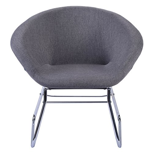 Contemporary Modern Grey Accent Chair Leisure Arm Sofa Lounge Home Living Room Furniture #808 (Lounge Pool Target Chairs)
