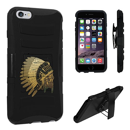 (iPhone 6s Plus Case, DuroCase Hybrid Dual Layer Combat Armor Style Kickstand Case w/ Belt Clip Holster Combo for iPhone 6s Plus 5.5