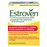 Estroven® Maximum Strength+Energy|Menopause Symptom Relief|Helps Reduce Hot Flashes & Night Sweats|Helps Reduce Irritability & Temporarily Relieve Fatigue|#1 Pharmacist Recommended†|28 Caplets