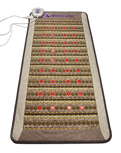 """Amethyst Jade Tourmaline FIR PEMF Photon Mat - Professional 71""""L x 32""""W - Adjustable 86-158F Far InfraRed Heating -Bio Stimulation Red Light - Ion- Pulsed Magnetic Therapy -FDA Registered Manufacturer by MediCrystal (Image #2)"""