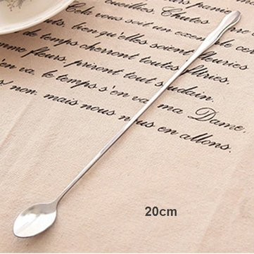 AirBlade Dinnerware & Flatware - Stainless Steel Gourd Shape Handled Spoon Coffee Stirring Spoon - Extendable Perennial Lengthy Spoonful Stressed Durable Farseeing Eternal Oblong Daylong - Strainer Oblong