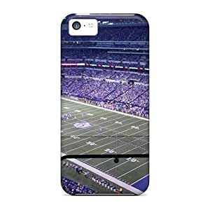 Tpu Case Cover For Iphone 5c Strong Protect Case - Tennessee Titans Stadium Night Game Design by kobestar