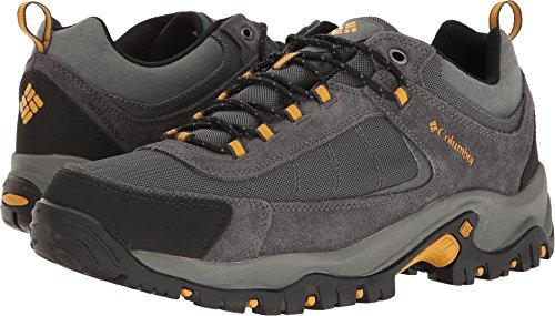 Columbia Men's GRANITE RIDGE WATERPROOF WIDE Hiking Shoe, Dark Grey, Golden Yellow, 13 2E US