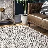 nuLOOM Clea Modern Tiles Area Rug, 3' x 5', Grey