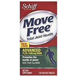 Move Free. Advanced Plus MSM Total Joint Health Tablet, 120 Count (11868)