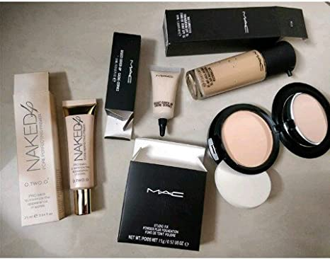 M.A.C Makeup Kit Combo of - Foundation, Naked Primer Cover, Concealer Studio Fix and
