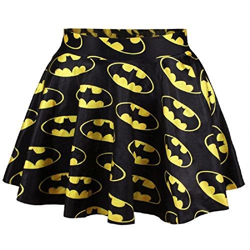 Neue Damen Batman Ausgestellte Rock Frau Kleidung tragen, Club Wear Sommer Fancy Kleid Dance Kostüm Gr. UK 8�?0EU 36�?8