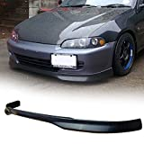 94 honda civic lip - 92-95 Honda Civic 2/3 Door TR Style Add-On Front Bumper Lip Spoiler Urethane
