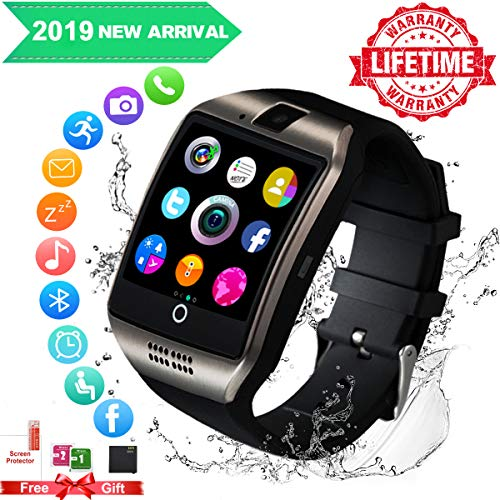Smart Watch,Smartwatch for Android Phones, Smart Watches Touchscreen with Camera Bluetooth Watch Phone with SIM Card Slot Watch Cell Phone Compatible Android Samsung iOS Phone XS X8 7 10 11 Men Women (Best Note App For Android 2019)