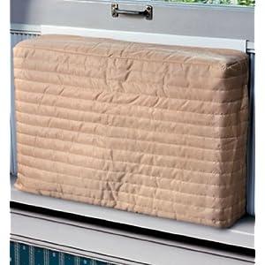 """Indoor Air Conditioner Cover (Beige) (Medium - 15 -17""""H x 22 -25""""W x 2""""D)"""