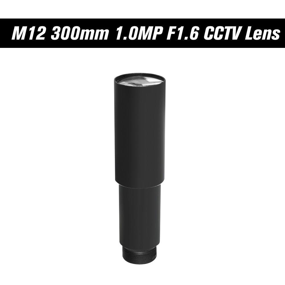 OWSOO HD 1.0 Megapixel 300mm CCTV MTV Board Lens 1/3'' Image Sensor Long Viewing Distance M12P0.5 Mount Horizontal View Angle 1.15D Manual Focus