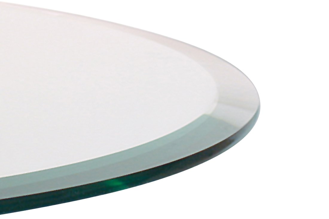 Round glass table tops - Amazon Com Glass Table Top 60 Round 1 4 Thick Beveled Edge Tempered Glass Home Kitchen