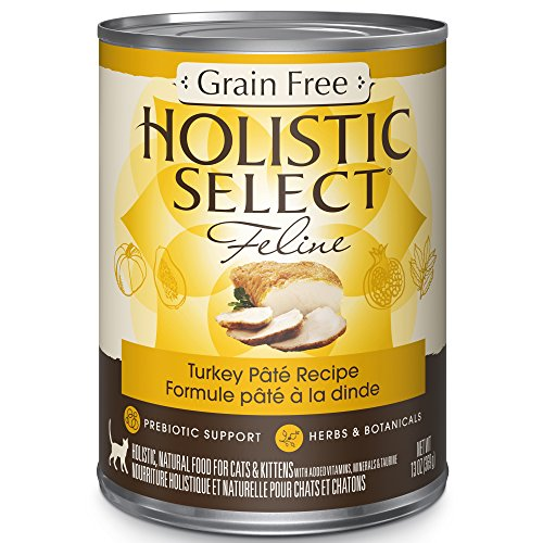 Holistic Select Natural Canned Grain Free Wet Cat Food, Turk