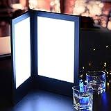 8-1/2'' x 11'' 2-Panel Folding LED Backlit Illuminated Menu Cover
