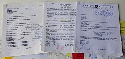 (Entombed Original Concert Contract w/Unsane & The Obsessed - 1994 Tulsa, OK)