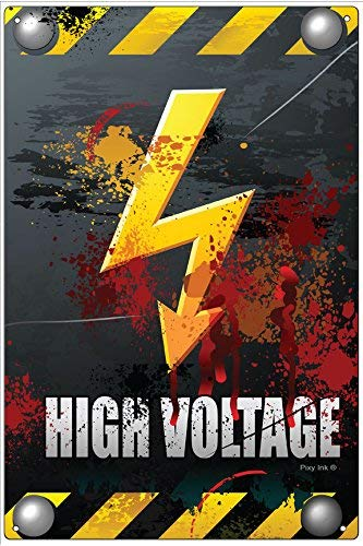 Froy Danger High Voltage Plaque De T/ôle Vintage Personnalis/é Art Cr/éativit/é D/écoration Artisanat pour Caf/é Bar Garage