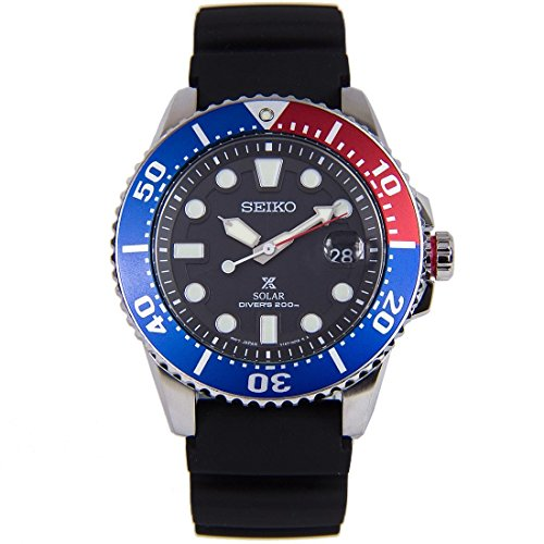 Mens Analog Sport Solar Seiko Watch - Watch Divers Kinetic
