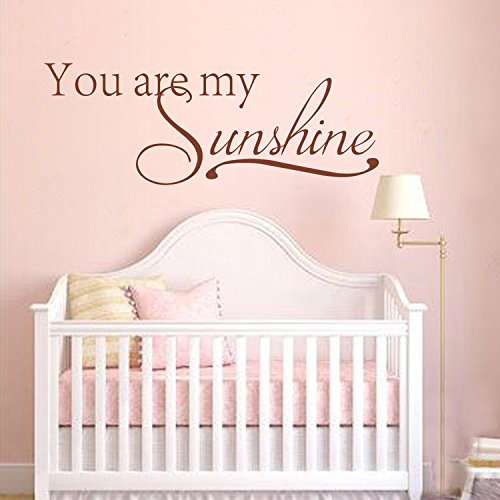 You Are My Sunshine Wall Decal Baby Nursery Wall Decal Home Decor Kids Room  Children Bedroom