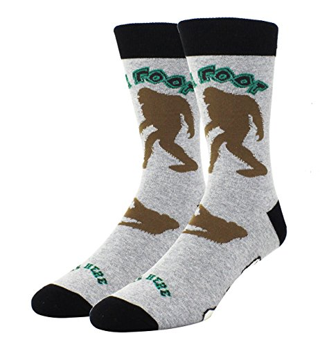 Men Cool Fun Big Foot Funny Crew Cotton Socks