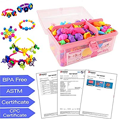 Pop Snap Beads,Birthday Gift for 3,4,5,6,7,8,9 Year Old Girls,Arts and Crafts Toys for Kids Age3-8,DIY Jewelry Kit for Making Bracelets,Necklace,Creative Educational Toys(600pcs): Toys & Games