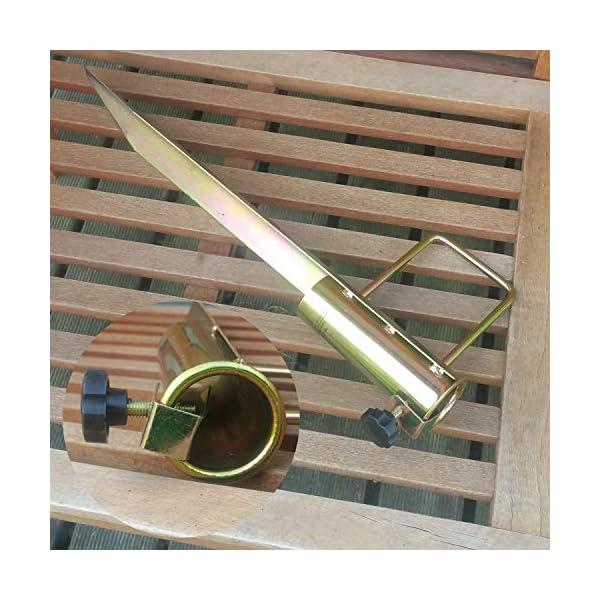 Land-Haus-Shop®, picchetto di supporto per ombrellone o stendibiancheria, da piantare nel terreno, in lamiera di acciaio… 6 spesavip