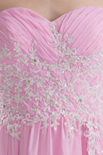 Langes Kleid Chiffon BRIDE Schatz Rosa Abendkleid GEORGE Homecoming gzqtnZ