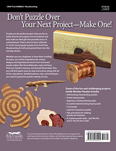 Wooden Puzzles: 31 Favorite Projects and Patterns (Best of Scroll Saw  Woodworking & Crafts Magazine) Paperback – July 1, 2009
