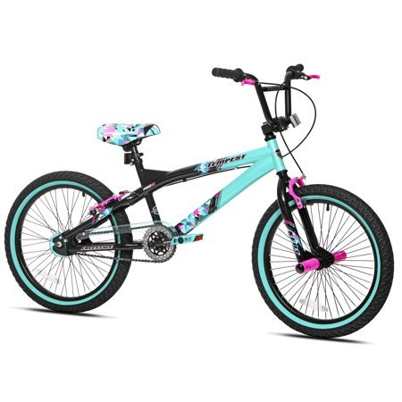 Capture Girls Attention with Soft and Sturdy Kent 20″ Tempest Girls Bike,Features Front and Rear Hand Brakes Plus Front and Rear Pegs,Safe and Comfortable Gift Choice for Kids,Black/Green