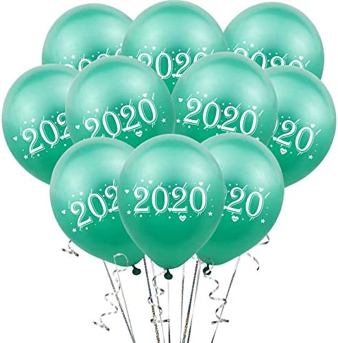 ZheJia 2020デジタルラテックスバルーン 結婚式の風船 新年の結婚式 12インチ20ピースグリーン 家の装飾の背景 誕生日パーティーの装飾 Green
