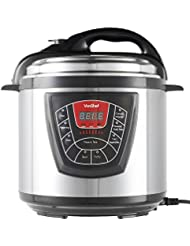 6 Quart 8-in-1 Multi-Function Electric Pressure Cooker, Digital Multi-Use Stainless Steel Cooker, Non-Stick Removable Pot Cuts Cooking Time of Rice, Poultry, Beans, Soup and More