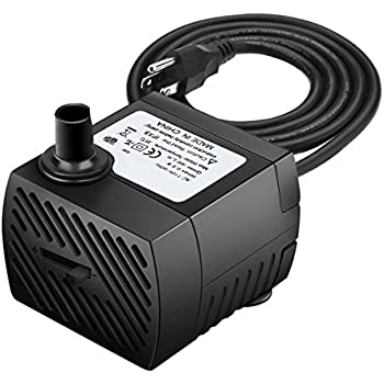 300L//H Fountain Water Pump for Pond//Aquarium//Fish Tank//Statuary//Hydroponics with 5.9ft Power Cord Maxesla Submersible Pump 80 GPH 1.8M