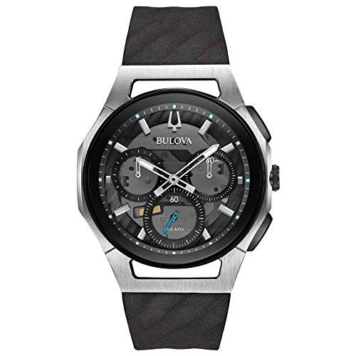 Bulova Men's Curv Collection Black Watch 98A161 -