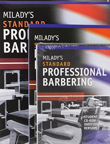 Bundle: Milady's Standard Professional Barbering, 5th + Student Workbook + Exam Review + Student CD