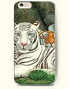 SevenArc Phone Case for iPhone 6 Plus 5.5 Inches with the Design of Two Different Tiger