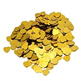 2000pcs 10mm Gold shine Sparkle heart Wedding Party Confetti Table Decoration