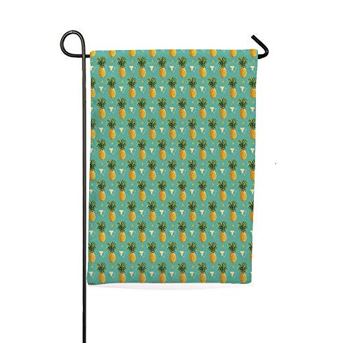 iPrintsophierhome Garden Banner Outdoor Flag Flags,Tropical Climate Fruits Pattern Retro Summer,Holiday Decorations Outdoor Garden Decoration Digital Printing Flag