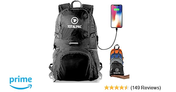 e560f0206451 Totalpac Lightweight Foldable Packable Backpack - Perfect Daypack for  Traveling   Camping - Small Hiking Backpack is Ultralight - Light Backpacks  for Travel ...