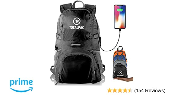 04f6a72d2802 Totalpac Lightweight Foldable Packable Backpack - Perfect Daypack for  Traveling   Camping - Small Hiking Backpack is Ultralight - Light Backpacks  for Travel ...