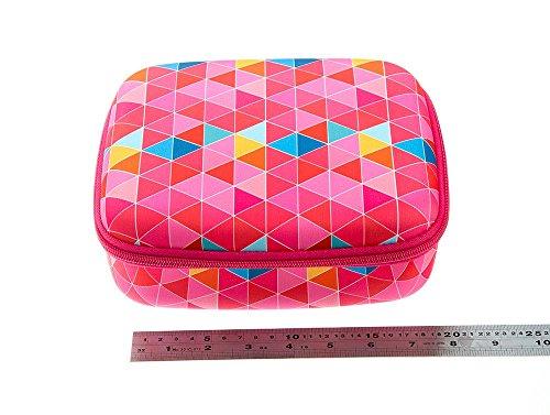 ZIPIT Colorz Jumbo Large Storage Box, Pink Triangles Photo #3