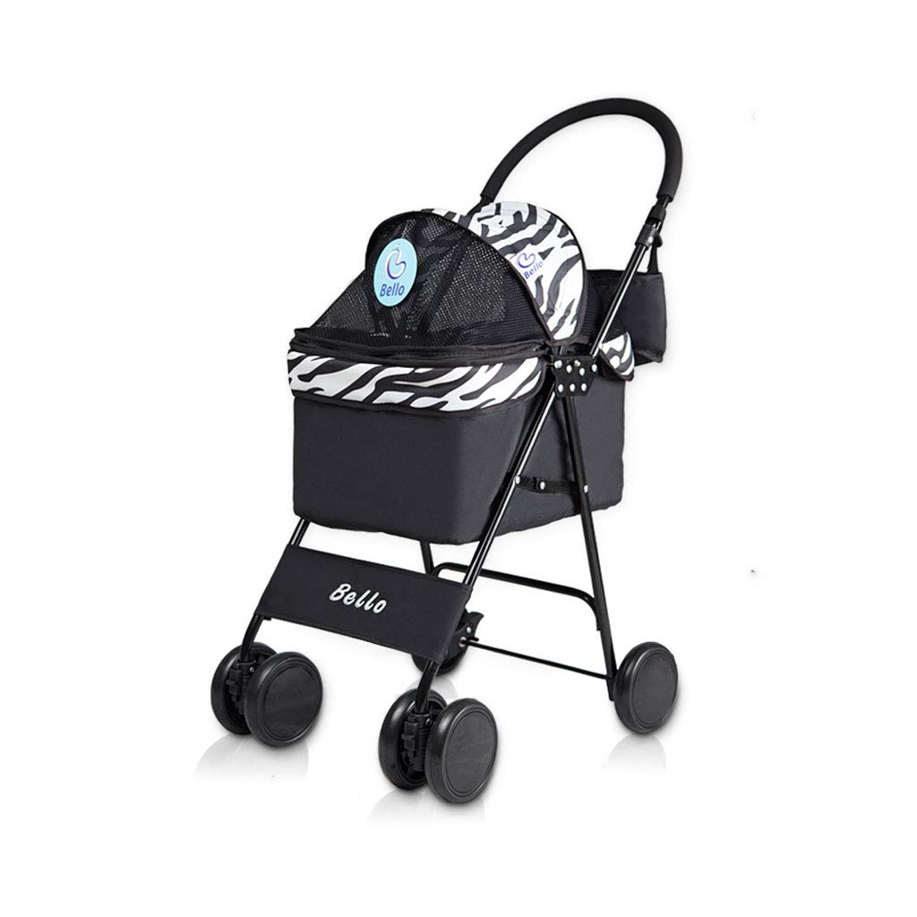 A Jzmaoi M4 Pet Stroller Top Cover Can Be Flipped Four-wheeled Dog cat Cart Can Carry 10 Kg Of Animal Sports Car To Travel And Walk. Pet car (color   A)