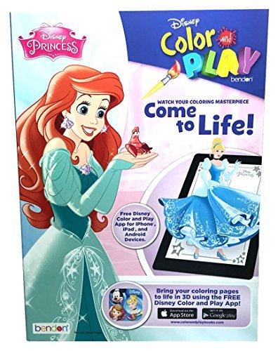 Disney Princess Come To Life! Color Play Book -96p